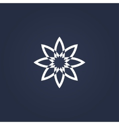 Flower symbol vector