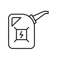 Fuel energy canister icon outline style vector