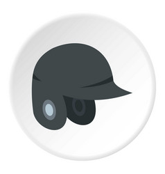 Grey baseball helmet icon circle vector