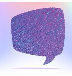 Hand draw speech bubble EPS8 vector image