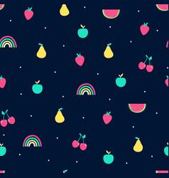 hand drawn fruit elements doodle vector image