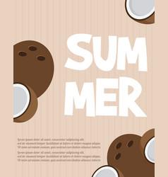 hello summer typography inscription with parasol vector image
