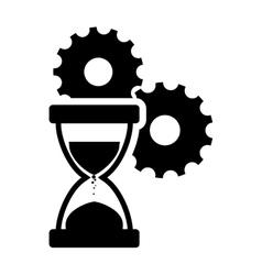 Hourglass gear business design vector