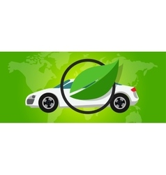 Hydrogen fuel cell car eco environment friendly vector