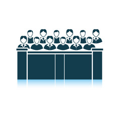 Jury icon vector
