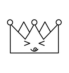 King crown kawaii character vector