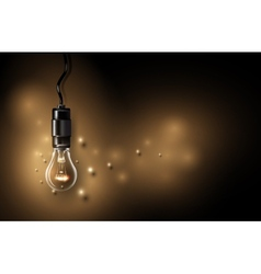 Lamp background vector image