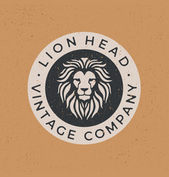 Lion head vintage logo icon vector