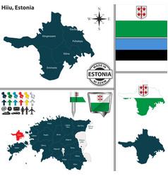 map of hiiu estonia vector image