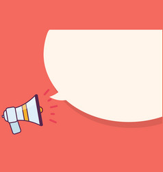 Megaphone with speak bubble for advertisement vector