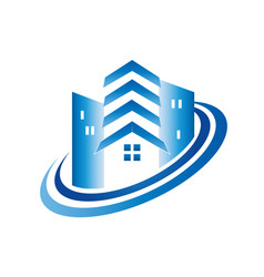modern house building icon logo vector image