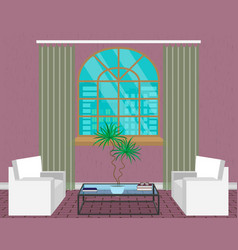 modern living room interior design light loft vector image