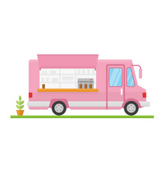 modern minimalist food car design flat vector image