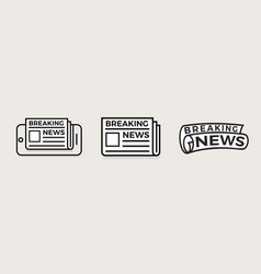 newspaper linear style logo concept vector image