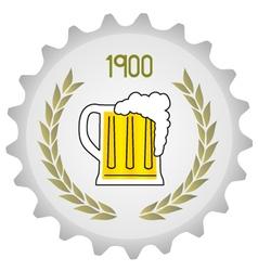 Old beer vector