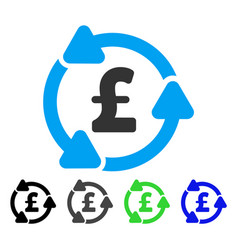 Pound circulation flat icon vector