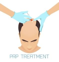 PRP treatment for men vector image