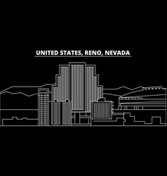 Reno nevada silhouette skyline usa - reno vector