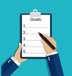 Resolution list goal checklist plan for new year vector