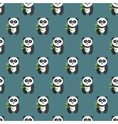 Seamless panda bear pattern vector image