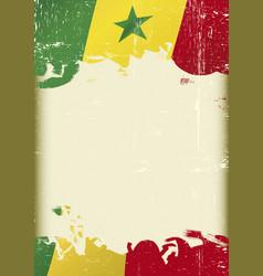 senegal flag grunge background vector image