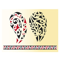 Set of maori tribal tattoo vector image