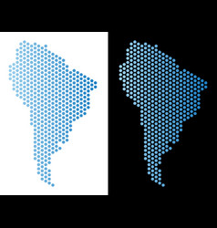 South america map hex-tile abstraction vector