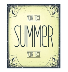 Summer greeting template vector