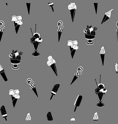sweet ice cream seamless pattern vector image