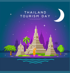 thailand tourism landmarks holy place vector image