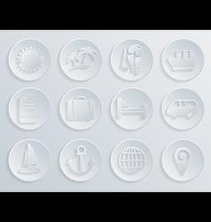 Travel icons set on white background Eps10 vector