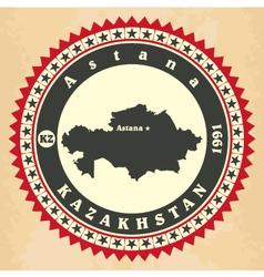 Vintage label-sticker cards kazakhstan vector
