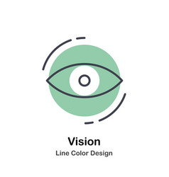 vision lineal color icon vector image