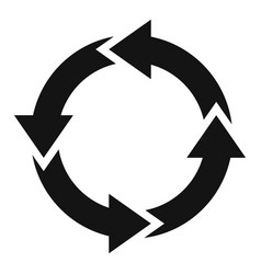 Water recycling icon simple style vector