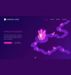 Way to success game isometric concept vector