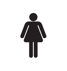 woman black silhouette vector image