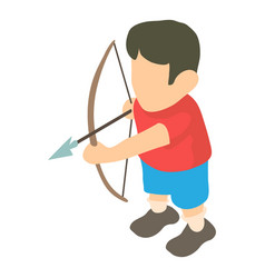 archer icon isometric 3d style vector image