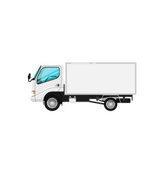 commercial delivery car isolated icon vector image vector image