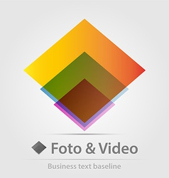 Foto and video business icon vector image