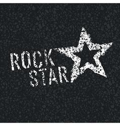 rock star on asphalt vector image vector image