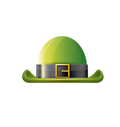 saint patricks day poster with green hat vector image