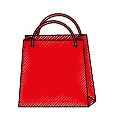 scribble shopping bag cartoon vector image vector image