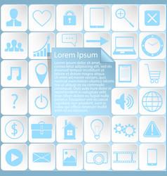 sticker icons web design vector image vector image