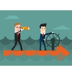 The team business concept cartoon vector