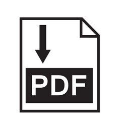 download pdf file button isolated on white vector image vector image
