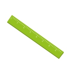 ruler school object vector image