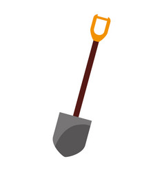 shovel tool object vector image vector image