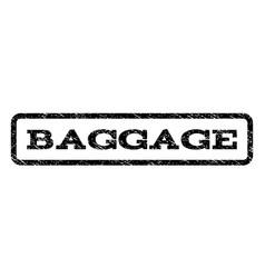 Baggage watermark stamp vector