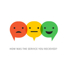 satisfaction survey with speech bubbles vector image