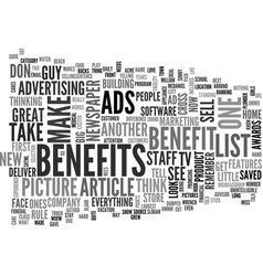 what do your ads say text word cloud concept vector image vector image